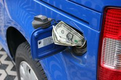 Rising gas prices Royalty Free Stock Image