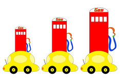 Rising Gas Prices Illustration Stock Image