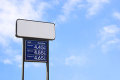 Rising gas prices Royalty Free Stock Images