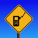 Rising gasoline prices sign Stock Images