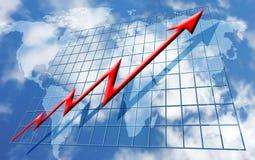 Rising global profits royalty free illustration