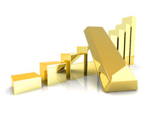 Rising gold Royalty Free Stock Photography