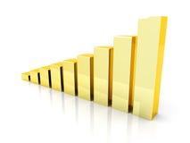 Rising gold Royalty Free Stock Image