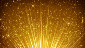 rising gold particles in light rays royalty free stock images