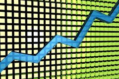 Rising graph. 3d graph reprisenting growth rise Stock Photography