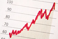 Rising Graph. Rising line graph showing growth royalty free stock photo