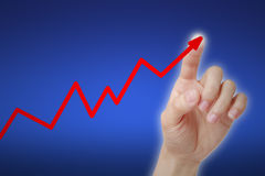Rising Graph Concept Stock Photography