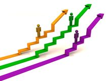 Rising graph development Royalty Free Stock Photos