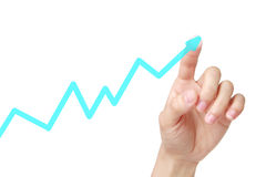 Rising Graph Royalty Free Stock Images