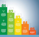 Rising Graph with a numbers on each bar Royalty Free Stock Image