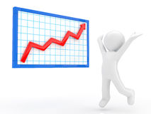 Rising graph Stock Photos