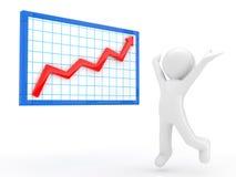 Rising graph Stock Photos
