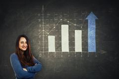 Rising graph stock image