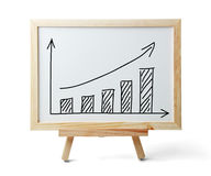 Rising Graph On Whiteboard Royalty Free Stock Photos