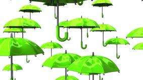 Rising Green Umbrellas stock footage
