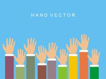 Rising Hand Vector in Flat Style Royalty Free Stock Photo