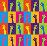 Rising hands stock illustration