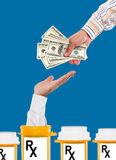 Rising health care costs. Concept Royalty Free Stock Images