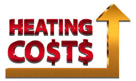 Rising heating costs Royalty Free Stock Photo
