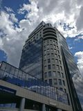 Rising high. EcoTower city business hall. Highest building in Zaporozhye Stock Photography