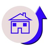 Rising house prices Royalty Free Stock Photography