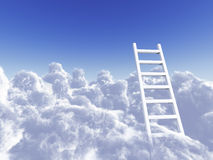 Rising ladder Stock Image