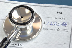 Rising medical cost. In the United States royalty free stock photography