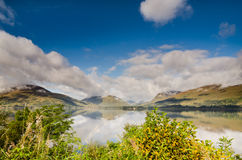 Rising mist on Loch Linnhe Royalty Free Stock Photography