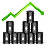 Rising Oil Price Concept Royalty Free Stock Images