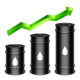 Rising Oil Price Concept Royalty Free Stock Photo
