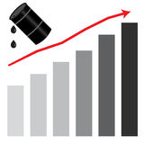 Rising oil price graph chart Stock Photo