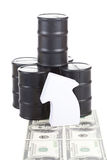 Rising oil prices Royalty Free Stock Photo