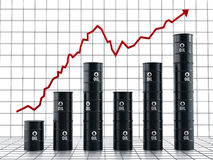 Rising oil prices Royalty Free Stock Images