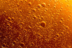 Rising orange bubbles Royalty Free Stock Photo