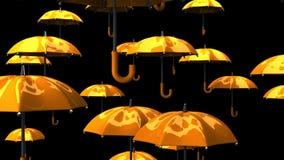 Rising Orange Umbrellas stock video
