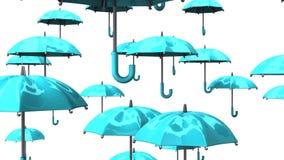 Rising Pale Blue Umbrellas stock video
