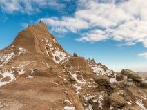 Rising Peak in the Badlands Stock Photos