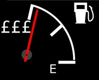 Rising petrol prices Royalty Free Stock Image