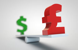 Rising pound rate Royalty Free Stock Image