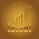 Rising price of wheat. Concept Illustration of the rising cost of wheat Royalty Free Stock Images