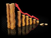 Rising profits. 3D render of a chart showing rising profits Royalty Free Stock Photography