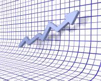 Rising profits Royalty Free Stock Photo