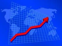 Rising profits Royalty Free Stock Image