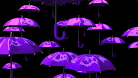 Rising Purple Umbrellas stock video footage