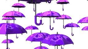 Rising Purple Umbrellas stock footage