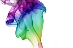 Rising Rainbow Smoke Stock Image