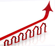Rising real estate prices. Concept Royalty Free Stock Photo