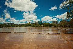 Rising river at West End, Brisbane Stock Photography