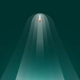 Rising rocket. To the space, vector illustration stock illustration