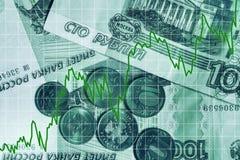 Rising ruble Royalty Free Stock Photos